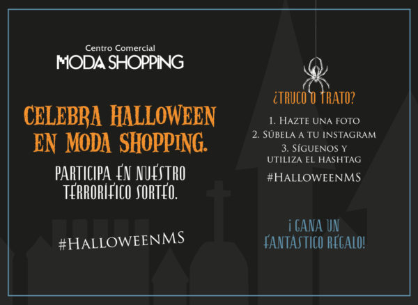 pasos sorteo Halloween 2018 Moda Shopping
