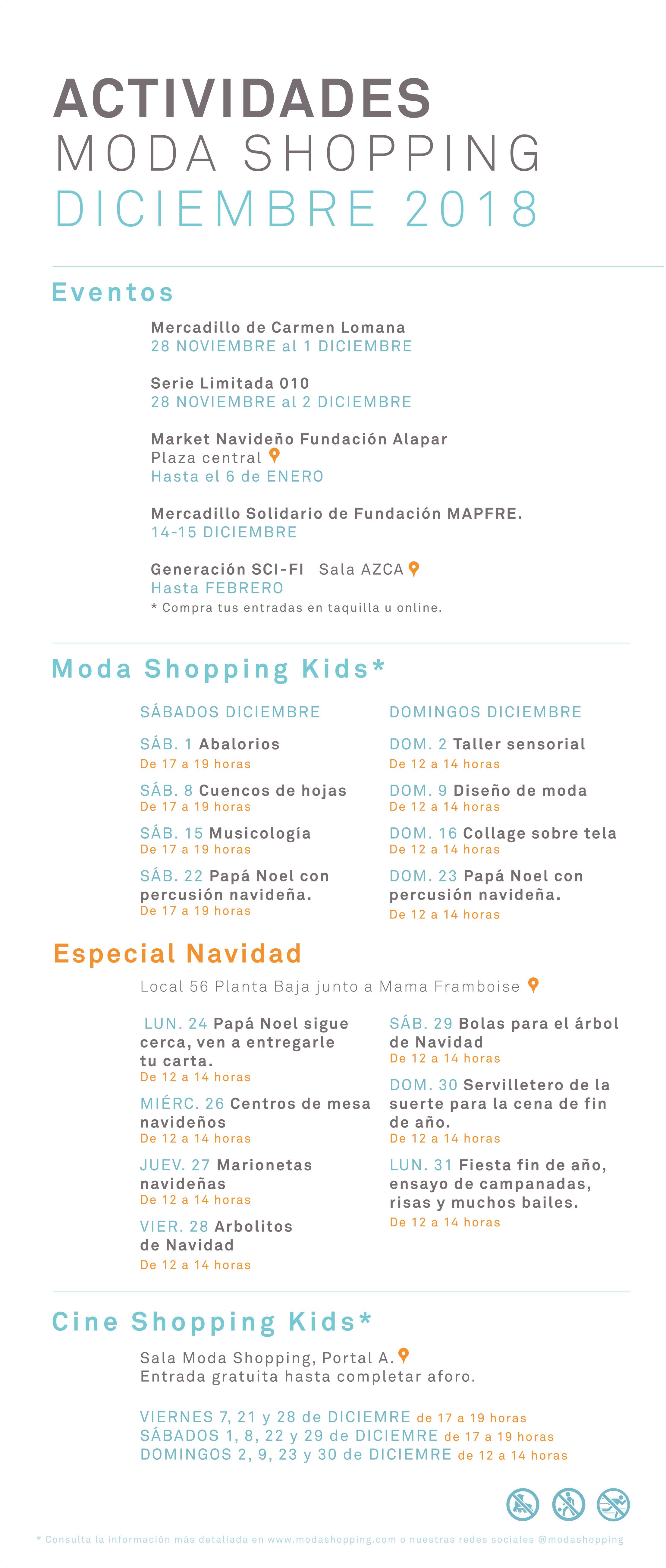 Programa Diciembre 2018 Moda Shopping